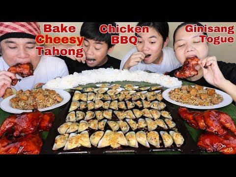Baked Cheesy Tahong, BBQ Chicken and Ginisang Togue Pinoy Mukbang