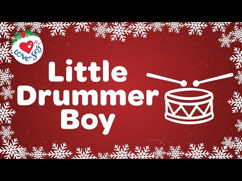 Little Drummer Boy with Lyrics Christmas Carol and Christmas Song