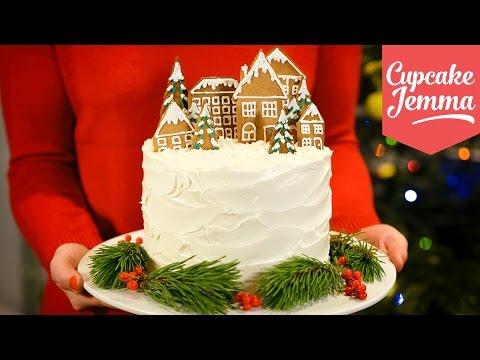Video Alternative Double Chocolate Forest Fruit Christmas Cake recipe   Cupcake Jemma