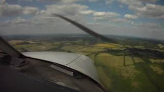 preview picture of video 'PA28 approach, landing and taxi at Biggin Hill airport Runway 21'