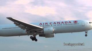 preview picture of video 'Air Canada B767-300 sunset landing @ Ottawa'