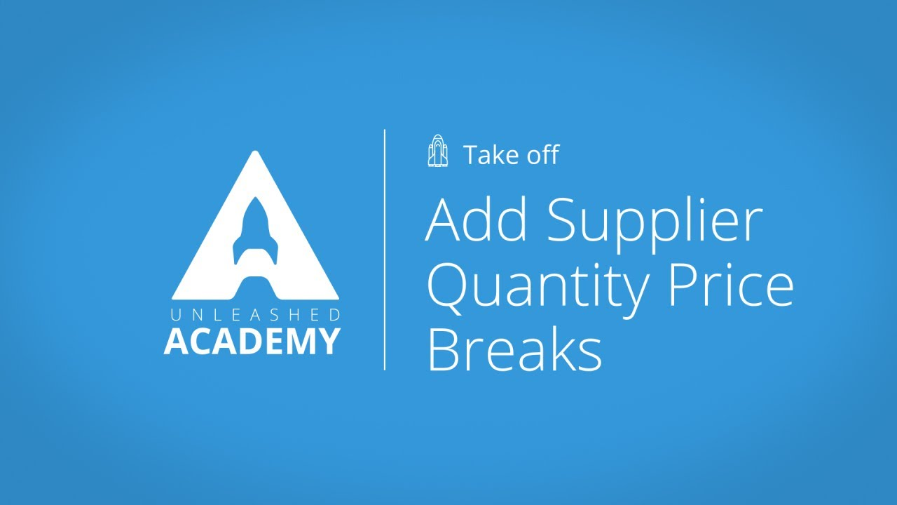 Add Supplier Quantity Price Breaks YouTube thumbnail image