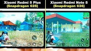 Xiaomi Redmi Note 5 (Snapdragon 636) vs Xiaomi Redmi 5 Plus (Snapdragon 625) В ИГРАХ! FPS + НАГРЕВ