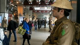 Soldiers on the streets to mark one of WW1's deadliest battles