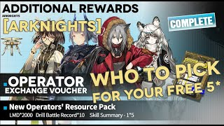 Silence  - (Arknights) - [Arknights] Who To Choose With The Launch 5 Star Exchange Voucher