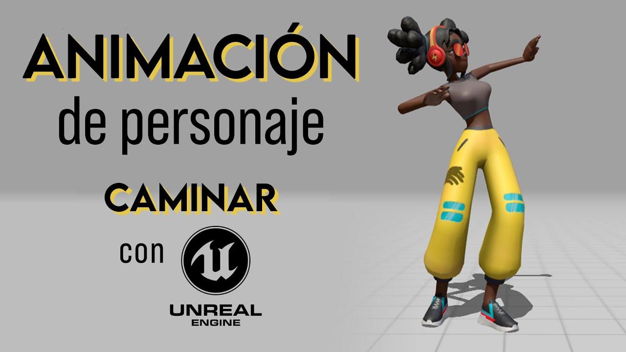 Animación de Personaje para Videojuego 🎮 Caminar | Tutorial Unreal Engine 4