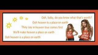 Ashley Tisdale Heaven Is A Place On Earth [On Screen Lyrics]