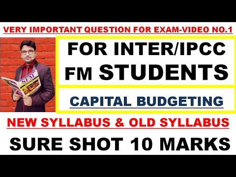CA Inter FM old & New Syllabus | Capital budgeting Important Exam ...