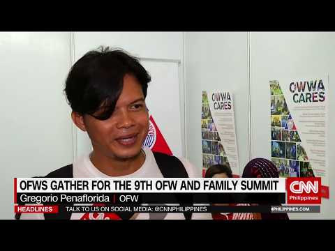 OFWs gather for the 9th OFW and Family Summit