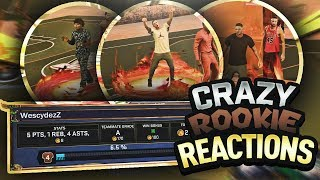 HELPING ROOKIES REP UP AND GET WINS ON NBA 2K17! HILARIOUS ROOKIE REACTION