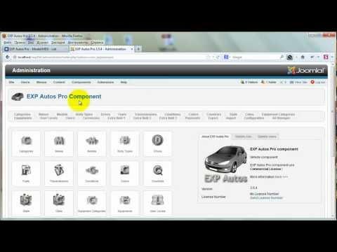 EXP Autos Pro Joomla vehicle component.  Export/Import ZIP archive - Back End.