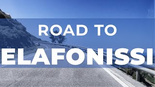 Road to Elafonisi (west coast of Crete)
