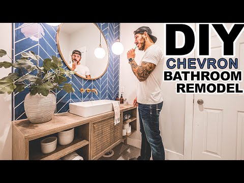DIY Modern Bathroom Remodel