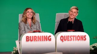 Julia Roberts Plays 'Burning Questions'