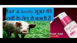 Fair & Lovely सूअर की चर्बी के तेल से बनती है  fair & lovely make pig fat