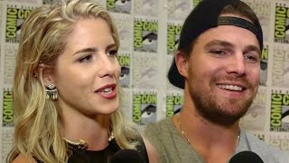 "Сериал ""Стрела"", Arrow Cast Talks ""Olicity"" Sex Scene & Felicity/Oliver Future - Comic Con 2015"