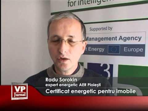 Certificat energetic pentru imobile