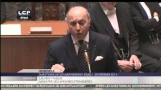 Ukraine : Laurent Fabius répond à une question à l