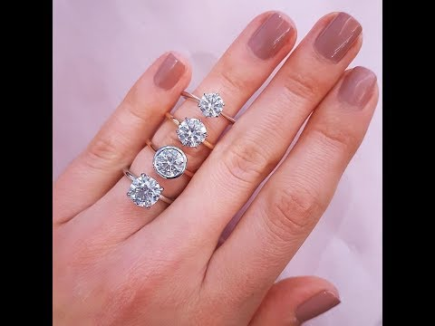 Lauren B Custom Collection Round Solitaire Engagement Rings