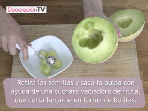 Trucos de cocina: Bolitas de melón