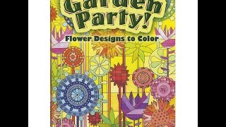 Flip Through Dover Publications Garden Party! Flower Designs To Color Coloring Book