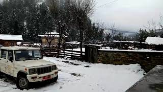 preview picture of video 'Beautiful Bumthang after snowfall'
