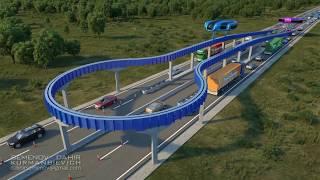 Манёвренность транспорта второго уровня.  Dahir Insaat