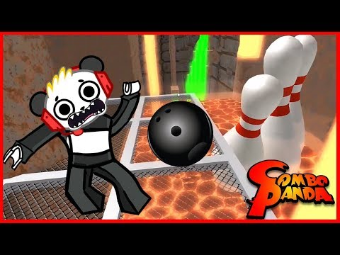 Roblox Escape the Bowling Alley Bowling OBBY Let's Play with Combo Panda (видео)