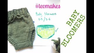 HOW TO KNIT - BABY BLOOMERS | TeoMakes