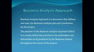 BUSINESS ANALYSIS – CLASS 6 (END)