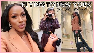 LIFE WITH JAYLA | FLYING TO NEW YORK FOR THE WEEKEND ✈️🏙