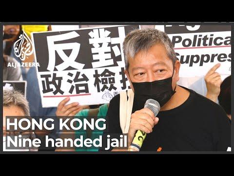 Hong Kong pro-democracy activists given jail terms