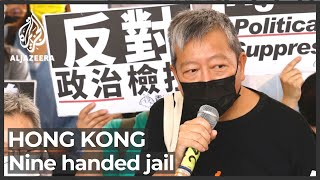Hong Kong pro-democracy activists given jail terms