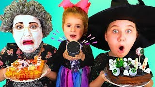 ALEXA PICKS OUR HALLOWEEN CAKE INGREDIENTS!! Pumpkin Vs Chocolate