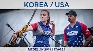 Korea v USA – recurve mixed team gold   Medellin 2019 World Cup S1