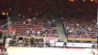 Jordan blocks a guard on a layup