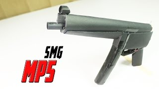 How To Make A Fully Automatic Paper MP5 SMG That Shoots