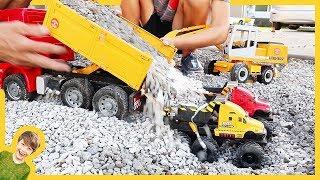 Monster Truck Dump Trucks Hauling Gravel (Compilation)