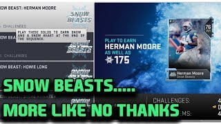 SNOW BEASTS DISAPPOINT | ZERO CHILL | MADDEN 19 ULTIMATE TEAM