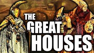 The Great Houses of Morrowind - Redoran, Indoril, Telvanni, Dres, Hlaalu - Elder Scrolls Lore