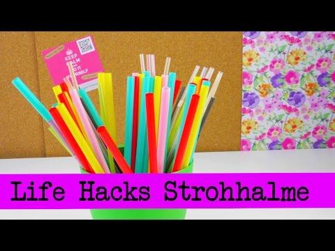 Life Hacks TOP 5: Strohhalme / Straws Tipps und Tricks rund um die Trinkröhrchen! | deutsch