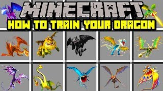 Minecraft HOW TO TRAIN YOUR DRAGON MOD! | TAME YOUR VERY OWN DRAGON! | Modded Mini-Game