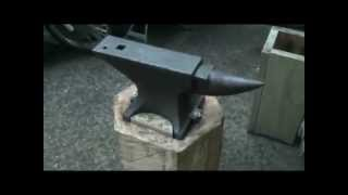 Making An Anvil Base For The New Anvil - Anvil Stand