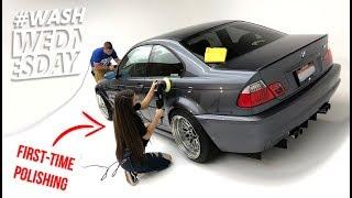 Morgan's Stanced e46 BMW M3 | Foam + Polish + Coating + Drive | WASHWEDNESDAY