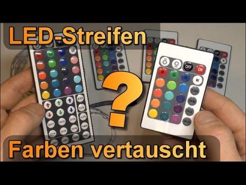 RGB LED Streifen: Farben auf Fernbedienung vertauscht?