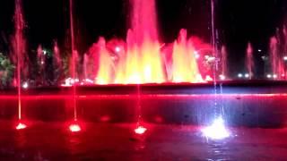 Открытие поющего фонтана в г. Чайковский в честь открытия чемпионата мира по летнему биатлону 2017