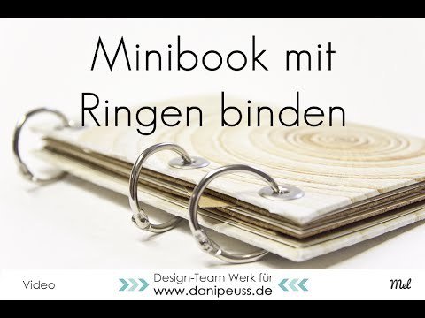 Minialbum mit Buchringen binden