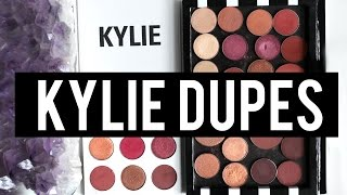 KYLIE BURGUNDY PALETTE EXACT DUPES For EVERY Shade  Jamie Paige