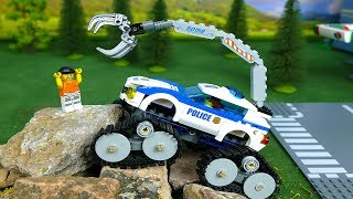 LEGO Experimental Cars fire truck police cars and trucks Video for Kids