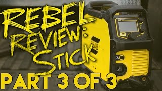 ESAB Rebel 215 EMP ic Stick Welding Review - 6010 and 7018 | MIG Monday